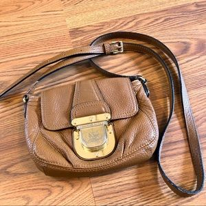 Tan Pebbled Leather Micheal Kors Crossbody